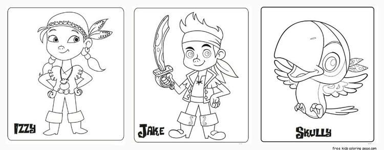 Printable Jake And The Neverland Pirates Coloring Pages Piraten Thema