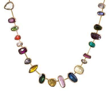 Dorette - Multi-Gem Reine Collar Necklace in Designers Dorette Necklaces at TWISTonline
