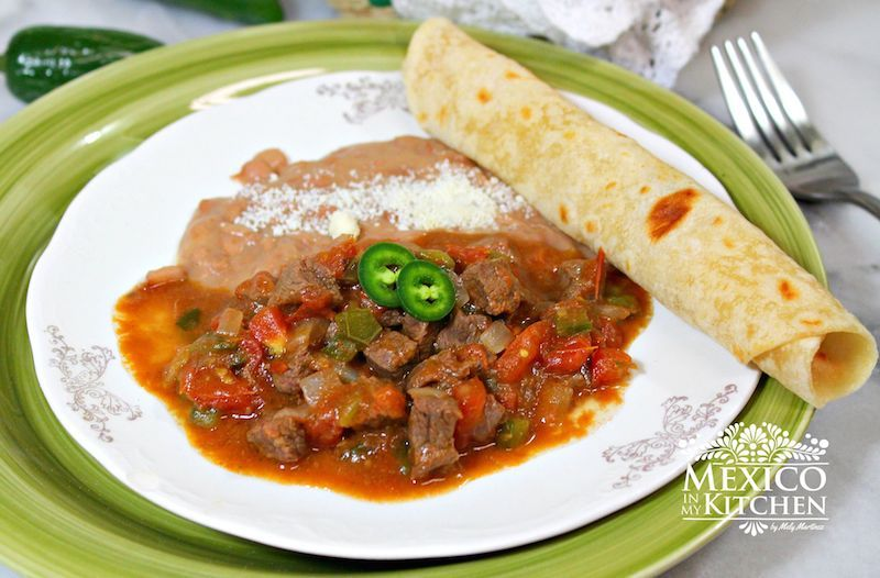 Mexico in my Kitchen: A Beef Stew to serve with flour