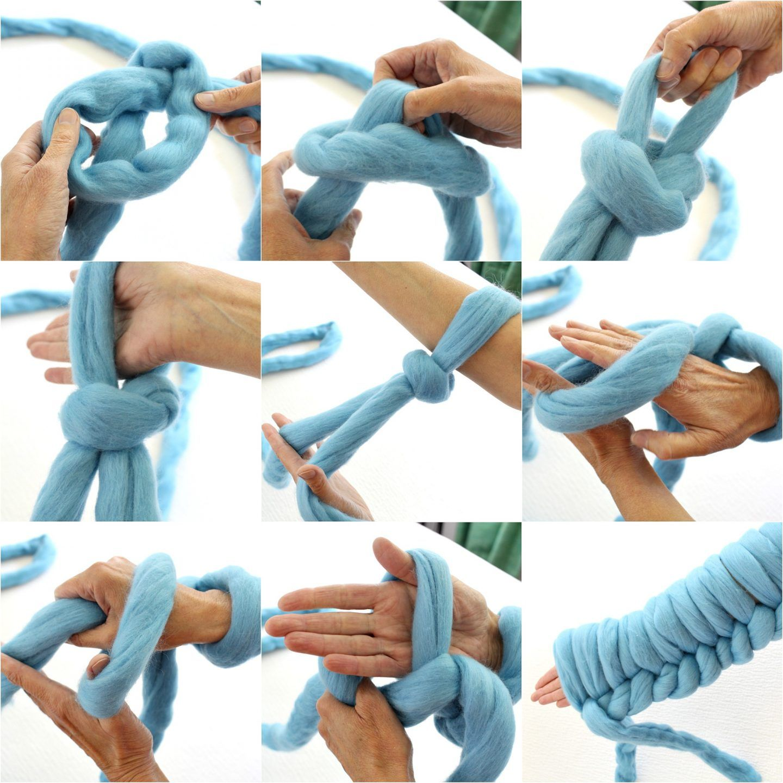 Diy Arm Knit Blanket Arm Knitting Tips Tricks Dans Le