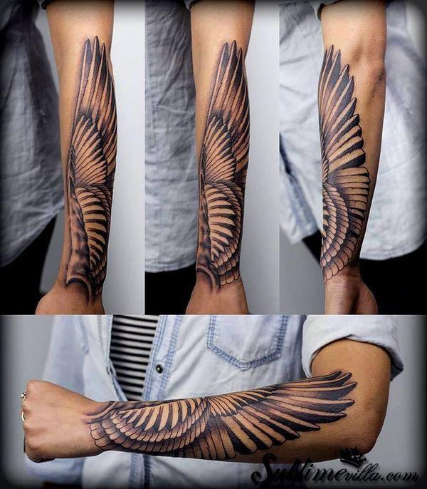 50++ Tatouage aile dange avant bras trends