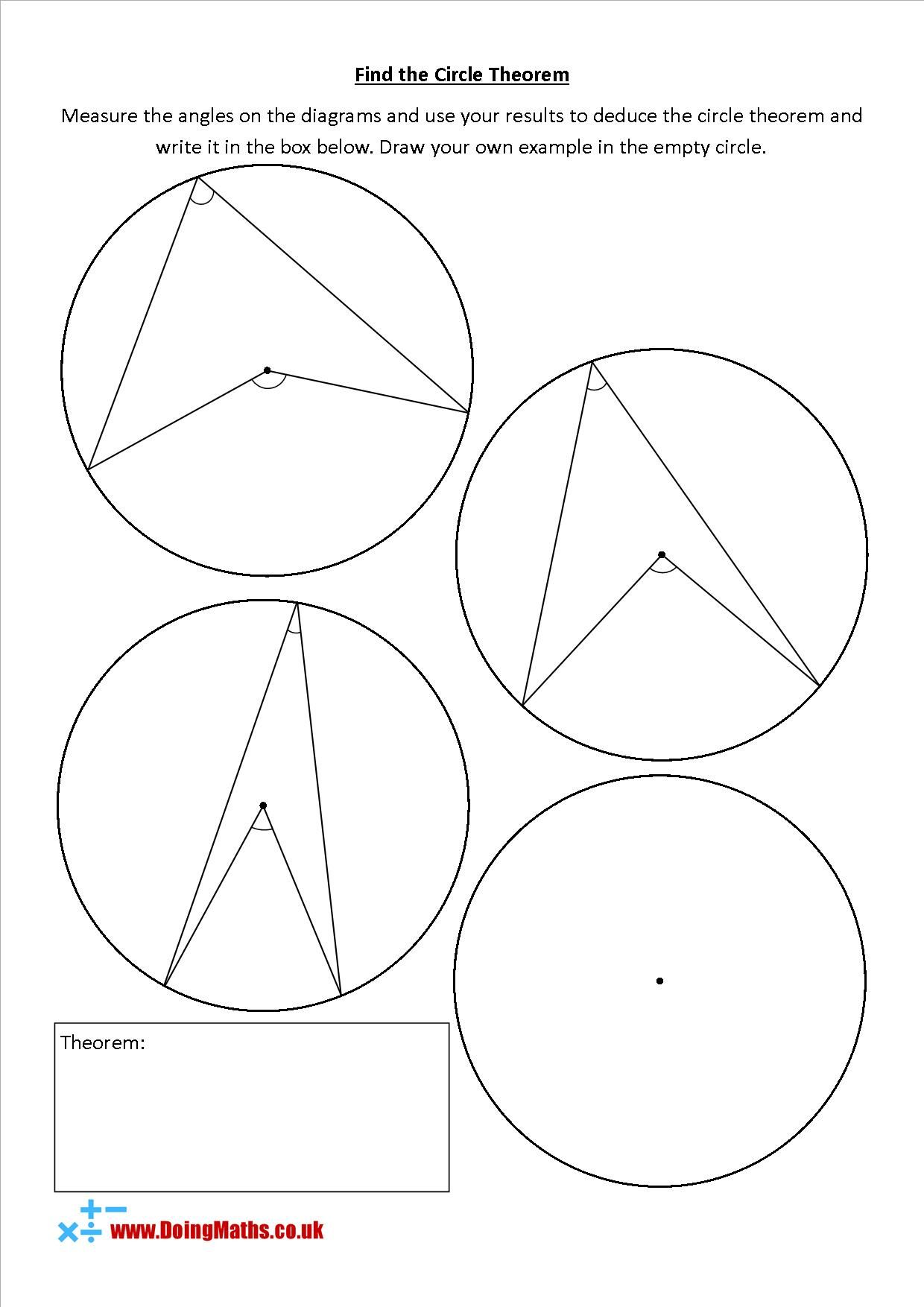 Find The Circle Theorem In