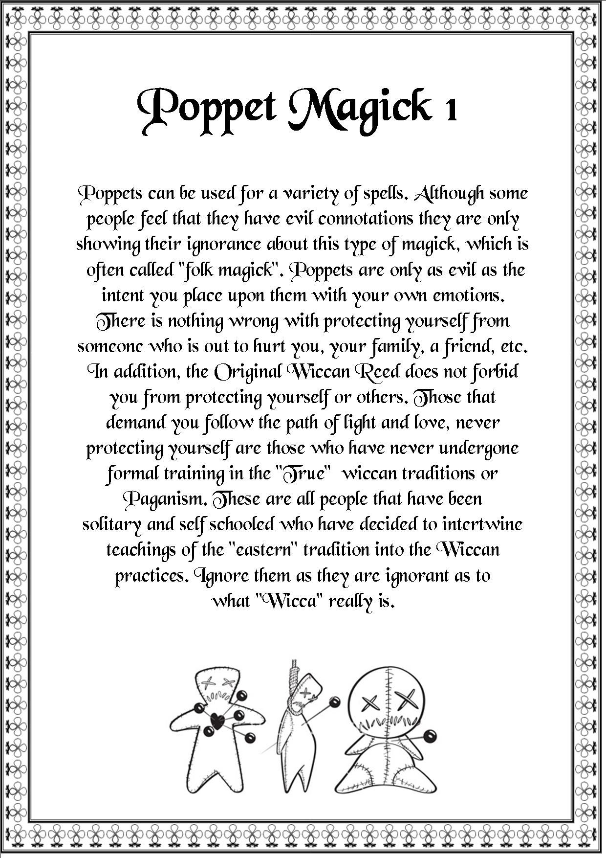 Magick Spells: Poppet #Magick 1  Used to have poppets my kids & man