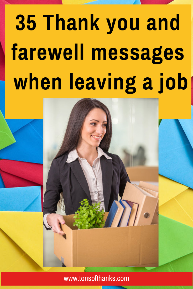35 thank you and farewell messages when leaving a job