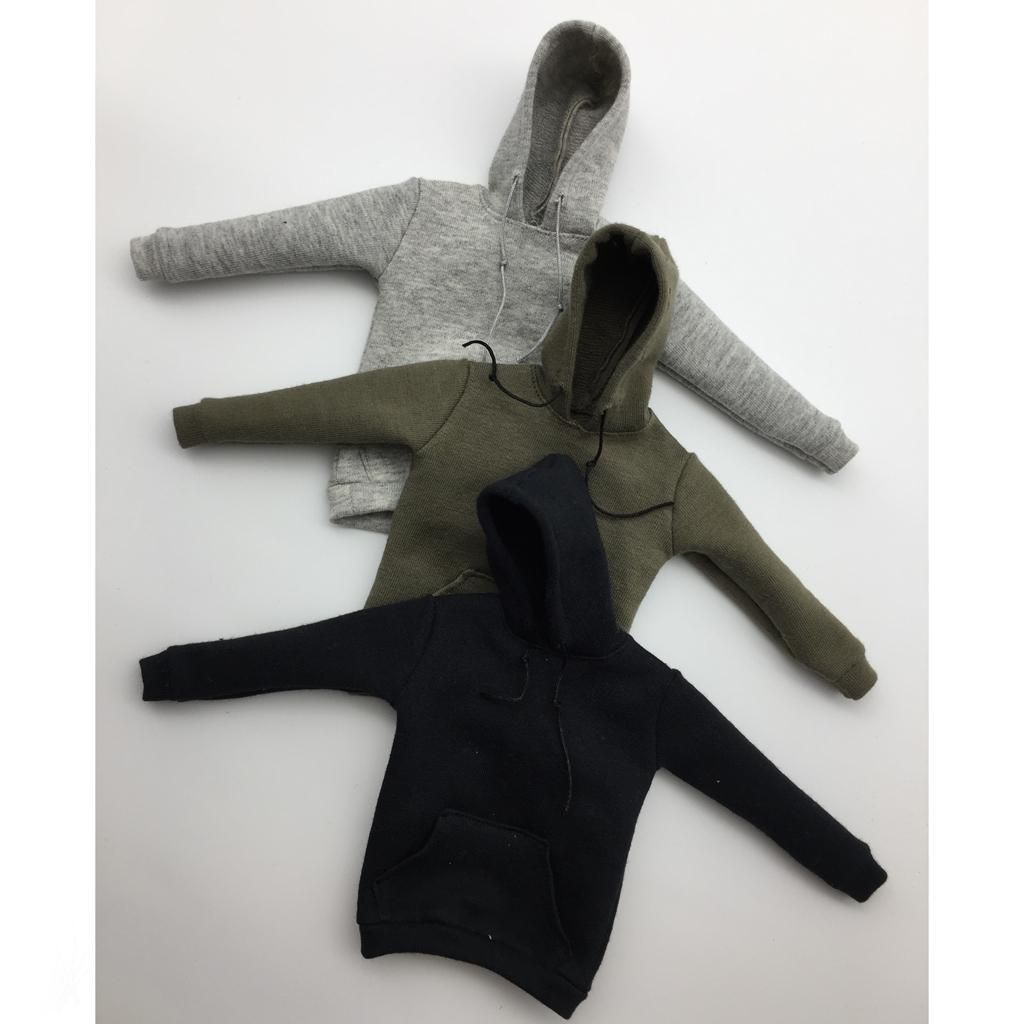 """Grey Hoody Outfits Coat For 1//6 Scale Female Male 12/"""" Action Figure 1:6 HT Toy"""