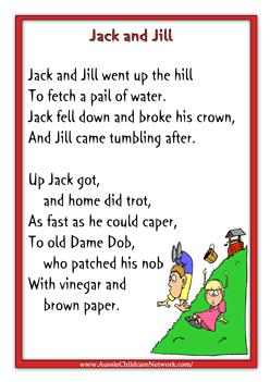Jill Rhymes Nursery Songs