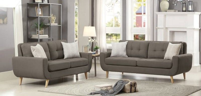 Homelegance Deryn 2 Piece Sofa Set 8327gy 2set