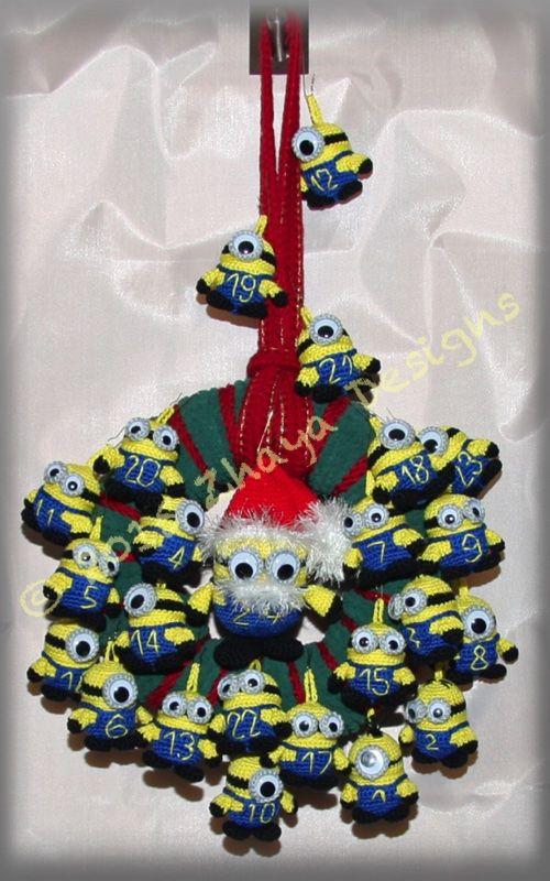 Adventskalender Minions Häkeln Pinterest Minions