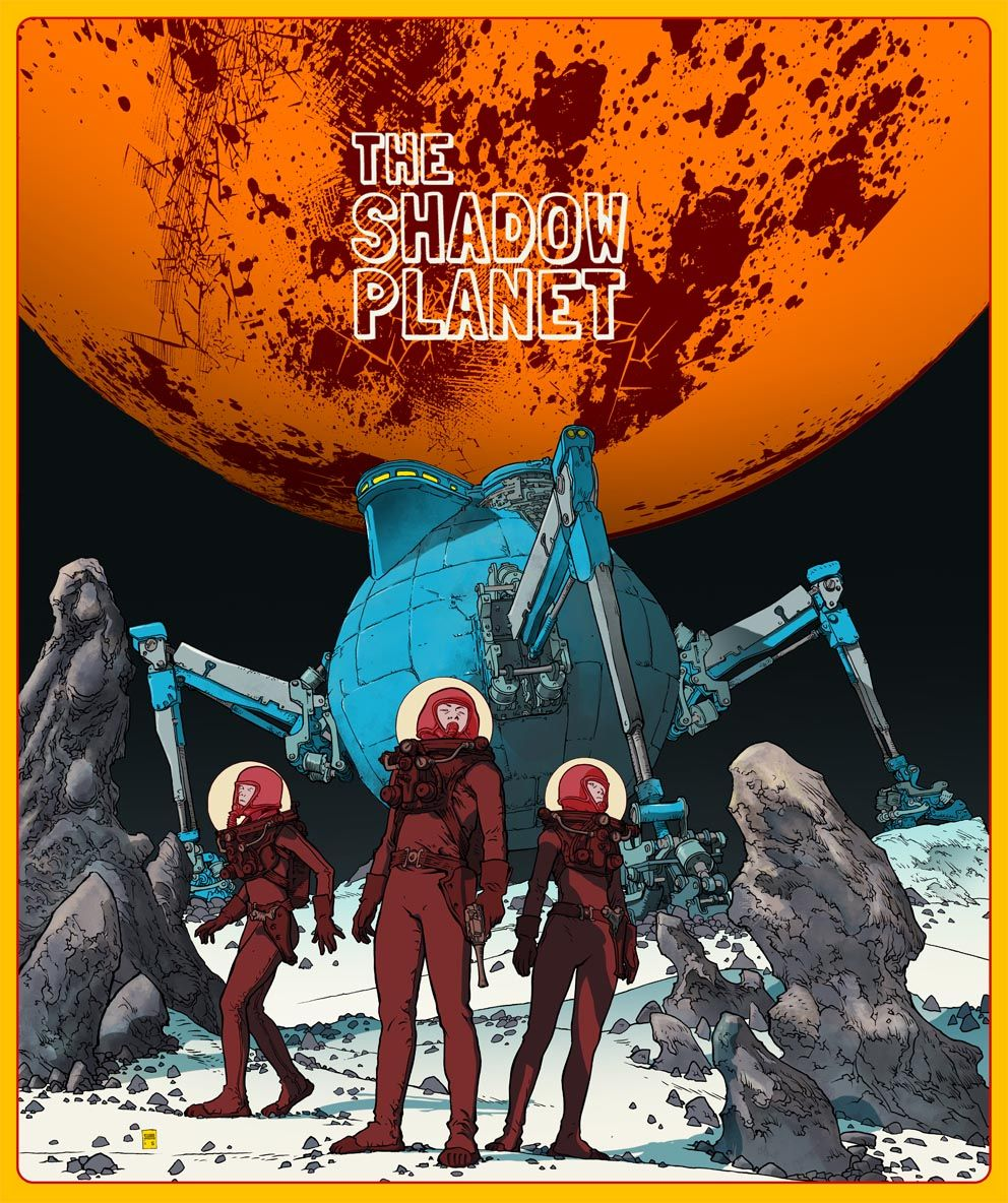 """The Shadow Planet"" a retro sci-fi horror by Blasteroid Bros. #horror #comics #scifi #fantascienza #fumetto #character #affiche #… 