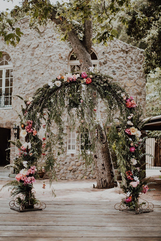 Whimsical Garden Wedding At A Malibu Private Estate Ruffled Whimsical Wedding Theme Order Wedding Flowers Wedding Arch Flowers