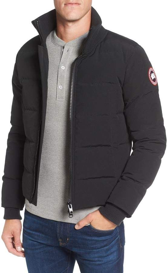 52221ccd6 Men's Canada Goose 'Woolford' Slim Fit Down Bomber Jacket, Size ...