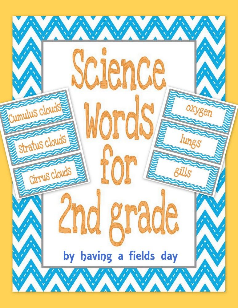 Second Grade Science Words For Word Walls 2nd Grade