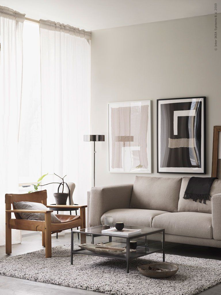 Living Room Design Ikea: Vintage Ikea Pieces In A Modern Setting