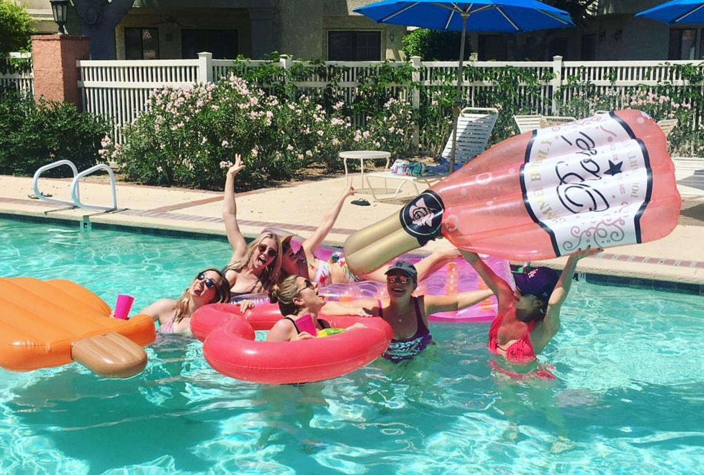 Rosé All Day! {National Rosé Day Party Ideas  Pool birthday party