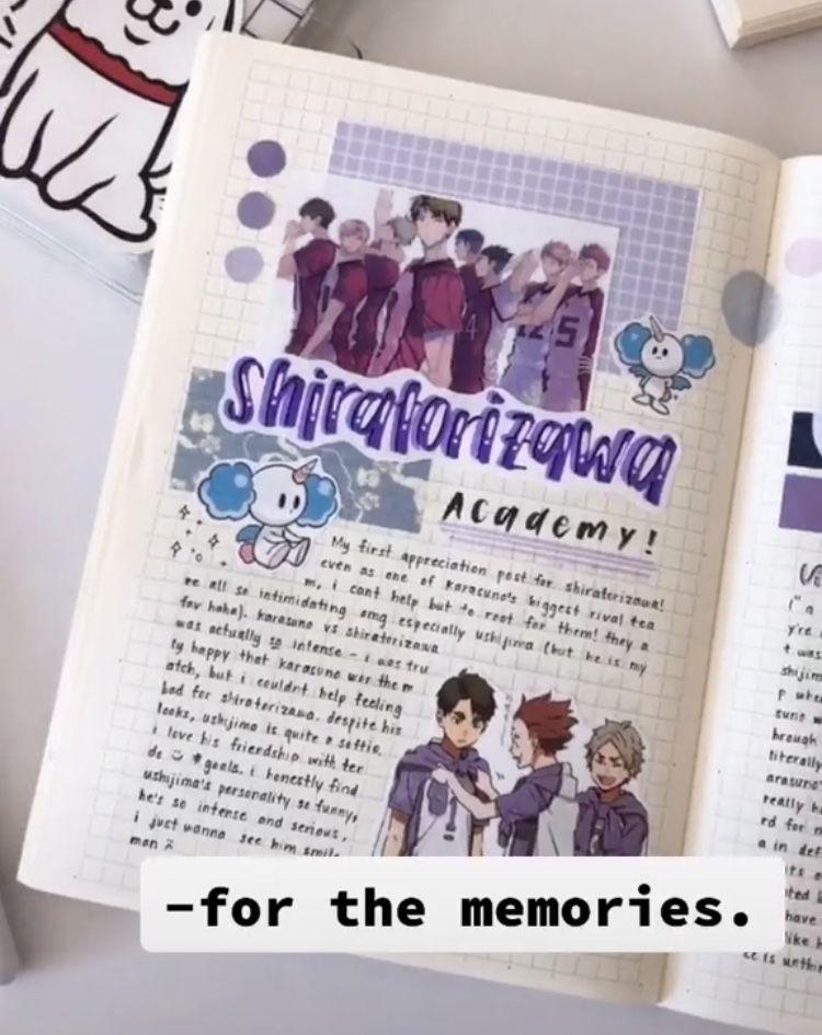 Animejournal Hashtag Videos On Tiktok Anime Book Bullet Journal Japan Journal Book Design