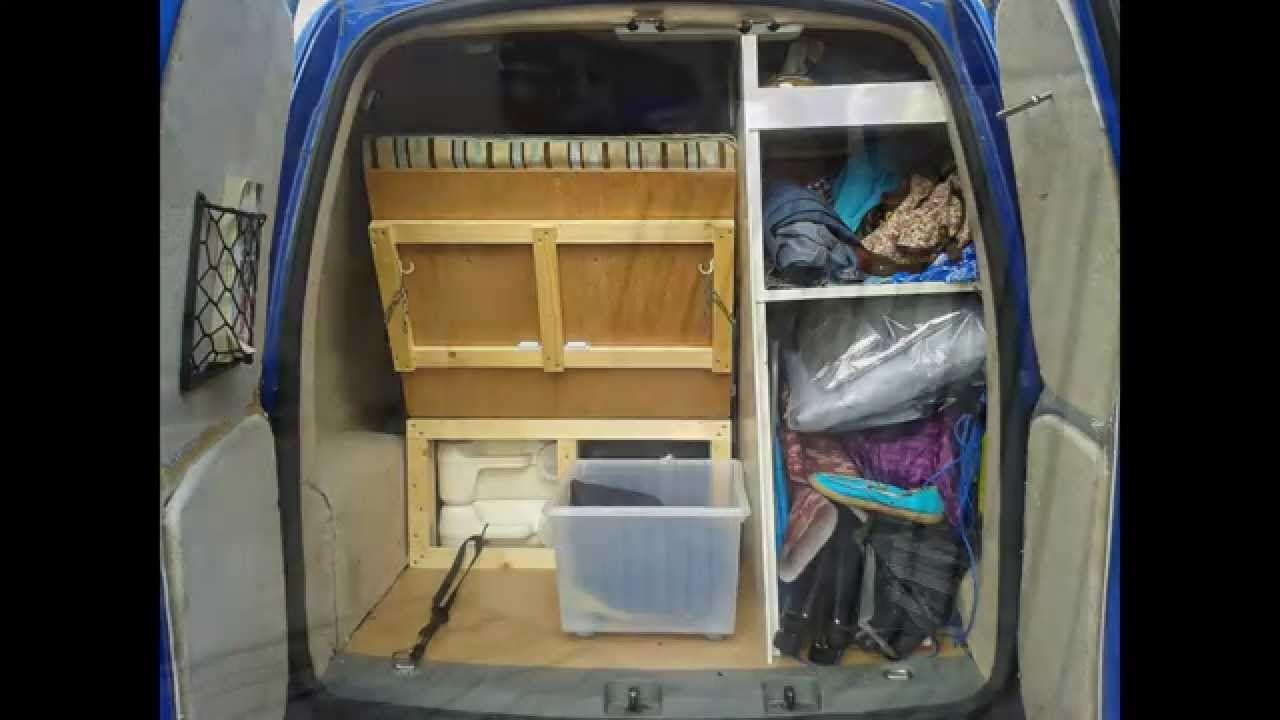 vw caddy van camper conversion youtube campers. Black Bedroom Furniture Sets. Home Design Ideas