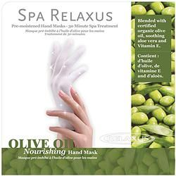 Olive Oil Moisturizing Gloves. Intense moisture treatment helps to revitalize dry, rough, overworked hands.  Enriched with soothing Olive Oil. 30 minute treatment.