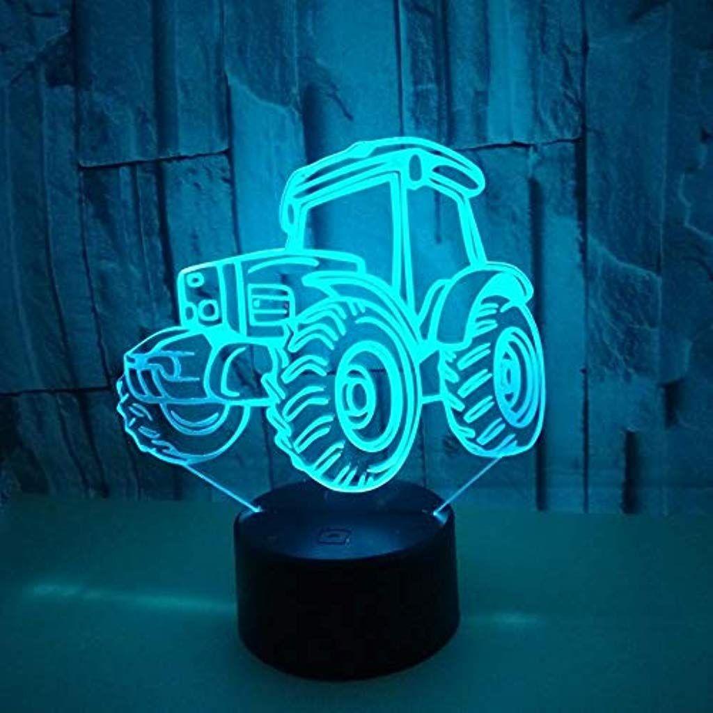 Hmdco Traktor 3d Led Illusion Lampe Nacht Lichtoptisch Nachttisch Tabelle Nacht Lichter Beleuchten Kinder Lampe 7 Farbe Andern Kinder Lampen Beleuchten Lichter