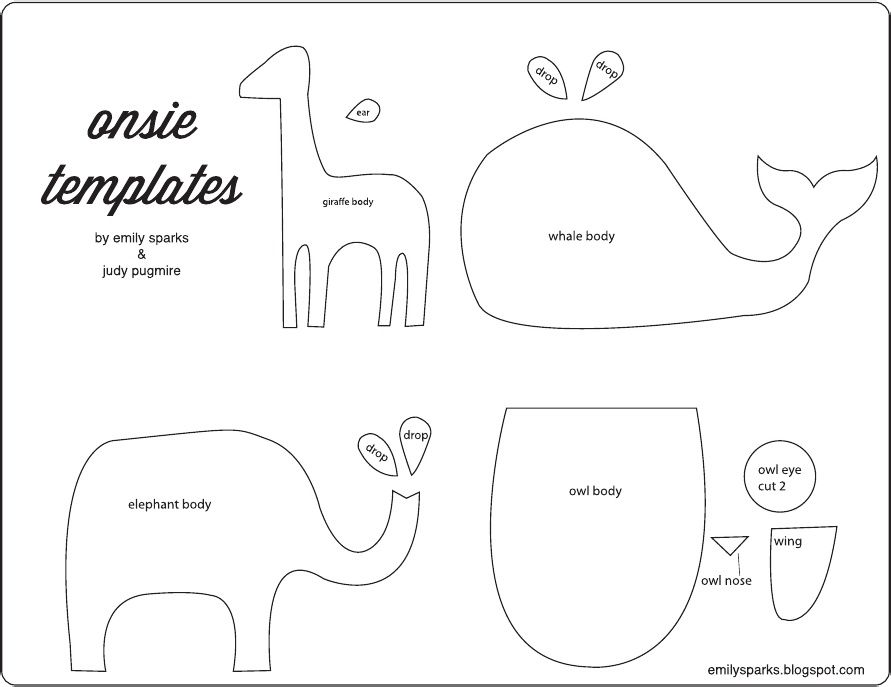 Template Need elephant for boysu0027 bathroom stepstool clothes - onesie template