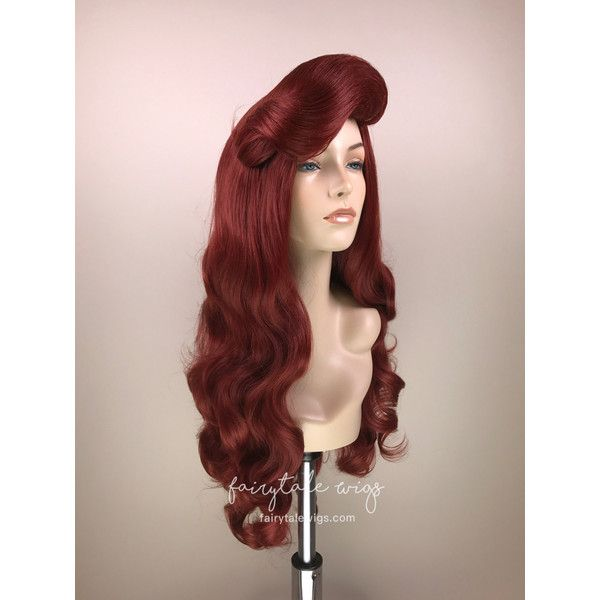 Ariel Fairytale Wig Original Wig 100 Japanese Futura Fiber ($200) ❤ liked on Polyvore featuring beauty products, haircare, hair styling tools, bath & beauty, hair care, red and wigs
