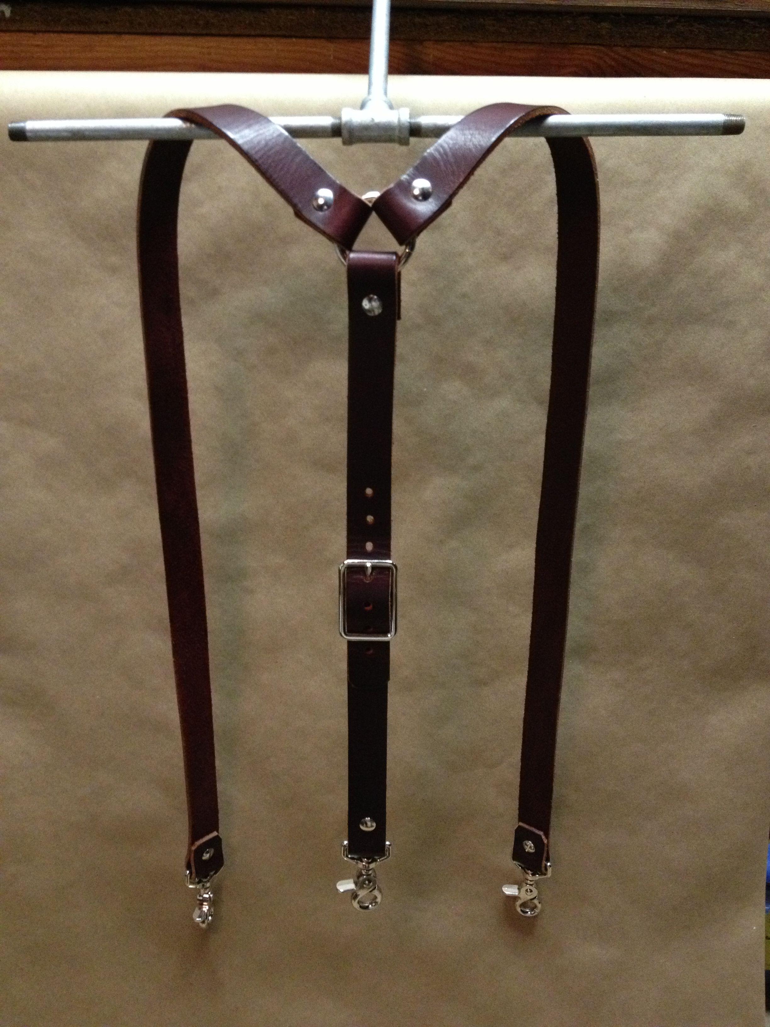 Wide Leather Suspenders By 440 Gentleman Supply 440