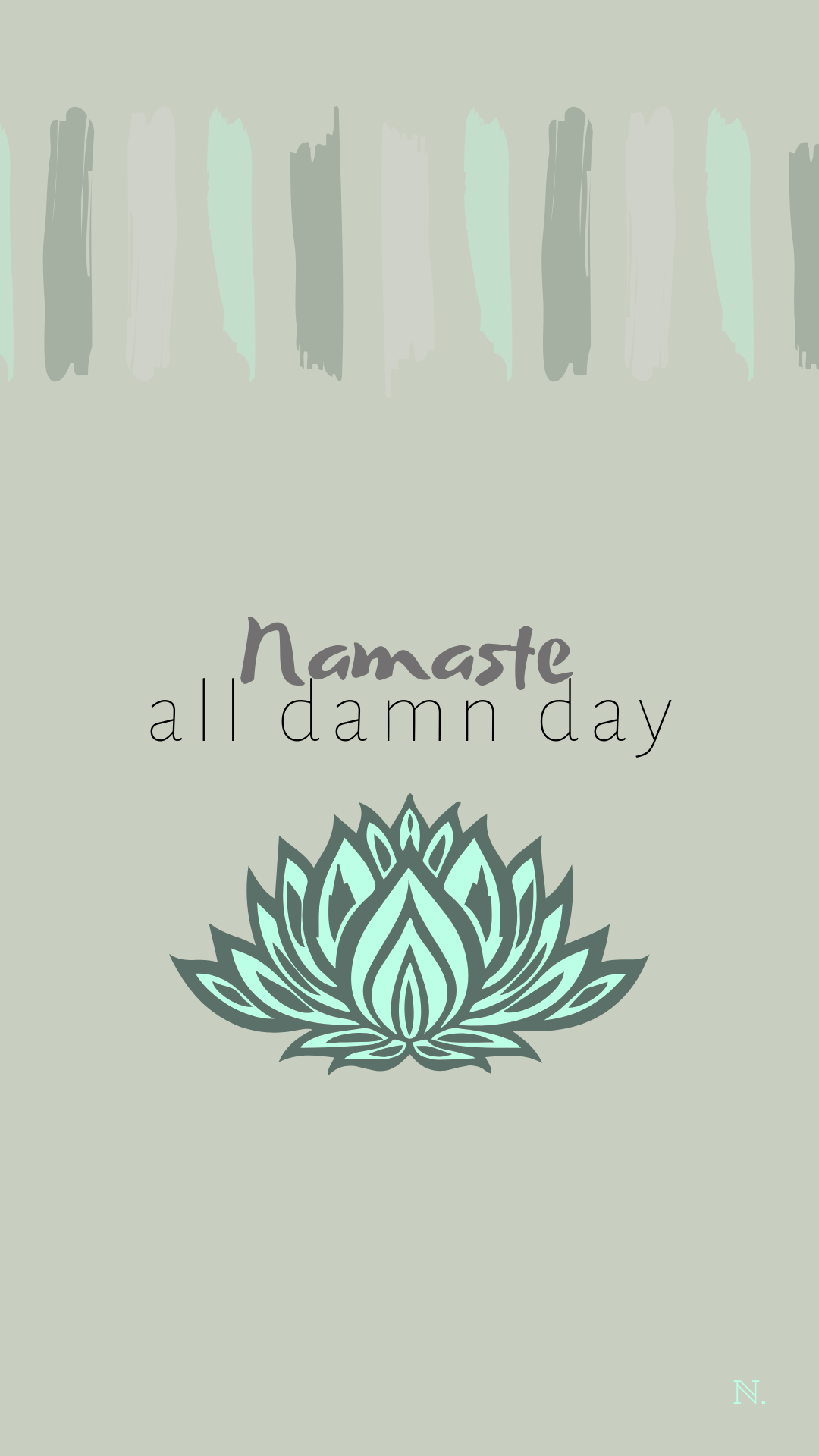 March Monthly Aesthetic Iphone Wallpaper Yoga Namaste Wallpaper