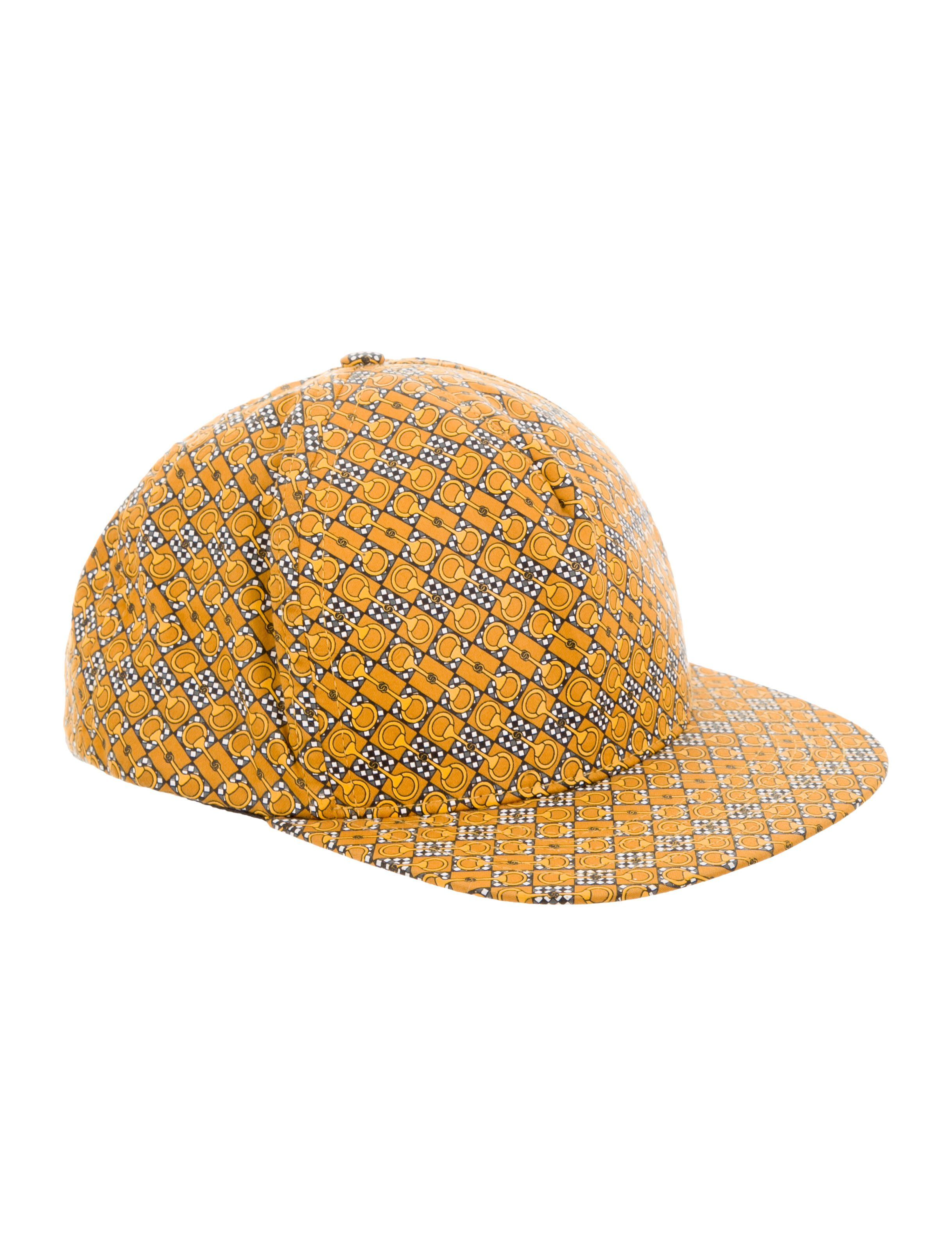 1efc0eb1 From the S/S 2012 Collection. Men's yellow Supreme woven snapback hat with  horsbit chain print throughout, tonal stitching and snap closures at ...