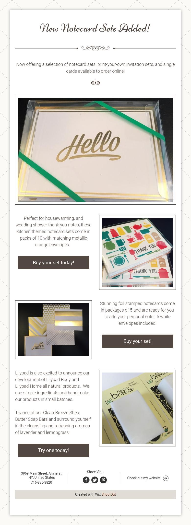 New Notecard Sets Added!