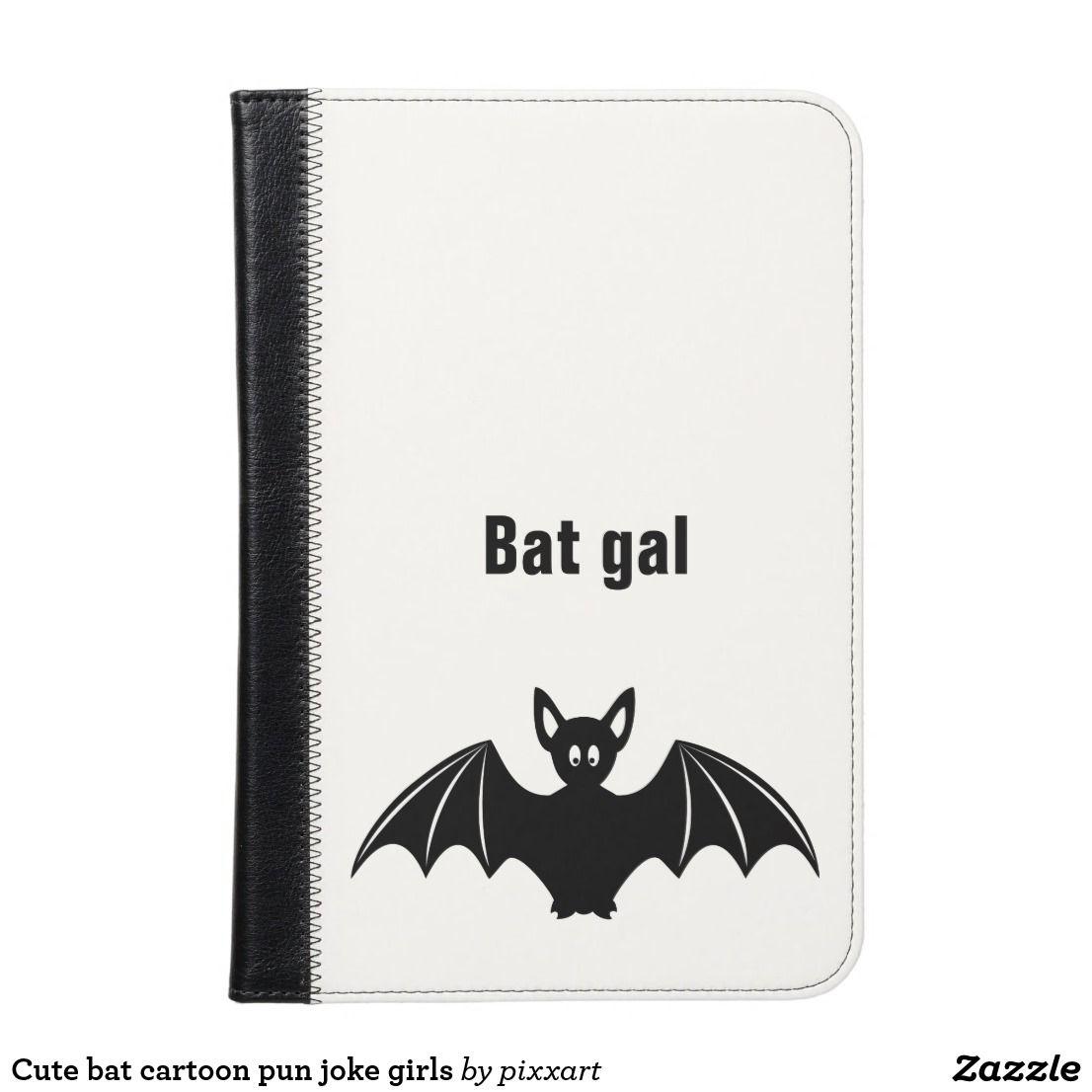 Cute Bat Cartoon Pun Joke Girls Ipad Mini Case Zazzle Com