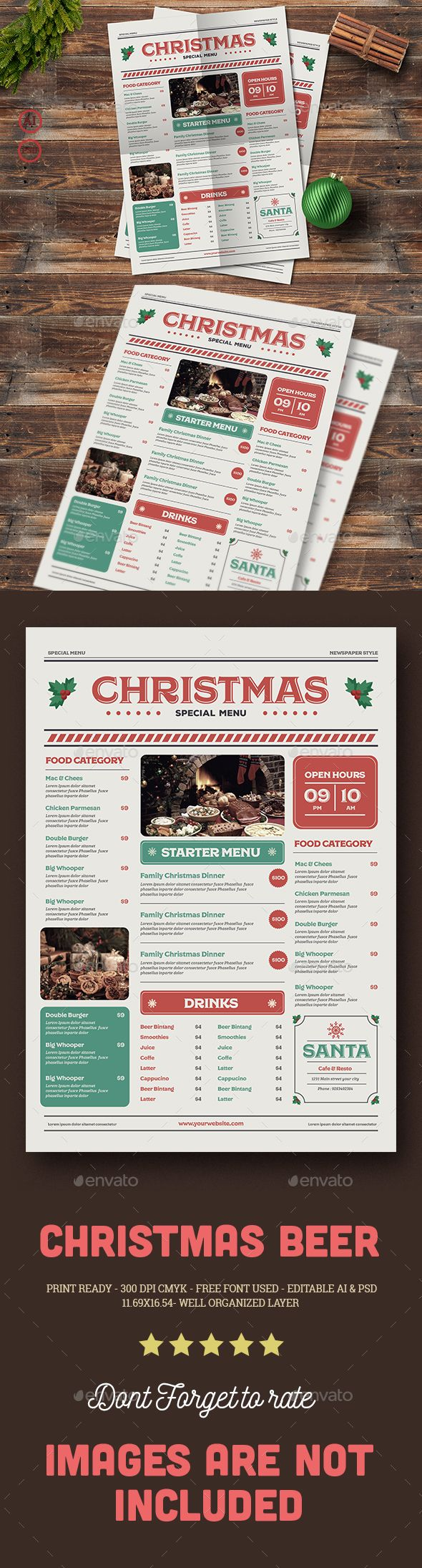 Special Christmas Menu Menu Templates Print Templates And Food