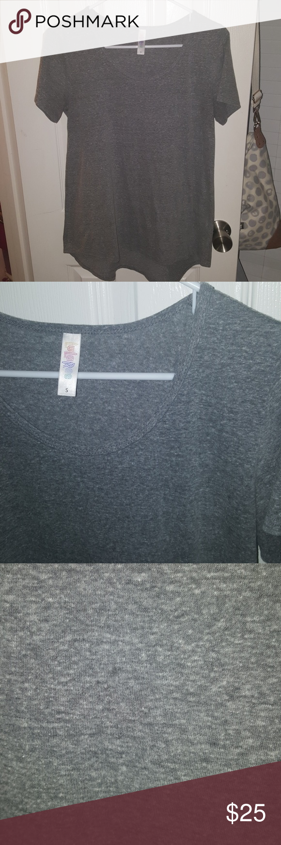LuLaRoe Heathered Gray Classic Tee Small EUC Excellent condition- no flaws. Smoke and pet free home. So incredibly soft and comfy! Hard to find solid heathered gray! This will go with everything! Will ship within 2 business days. LuLaRoe Tops Tees - Short Sleeve