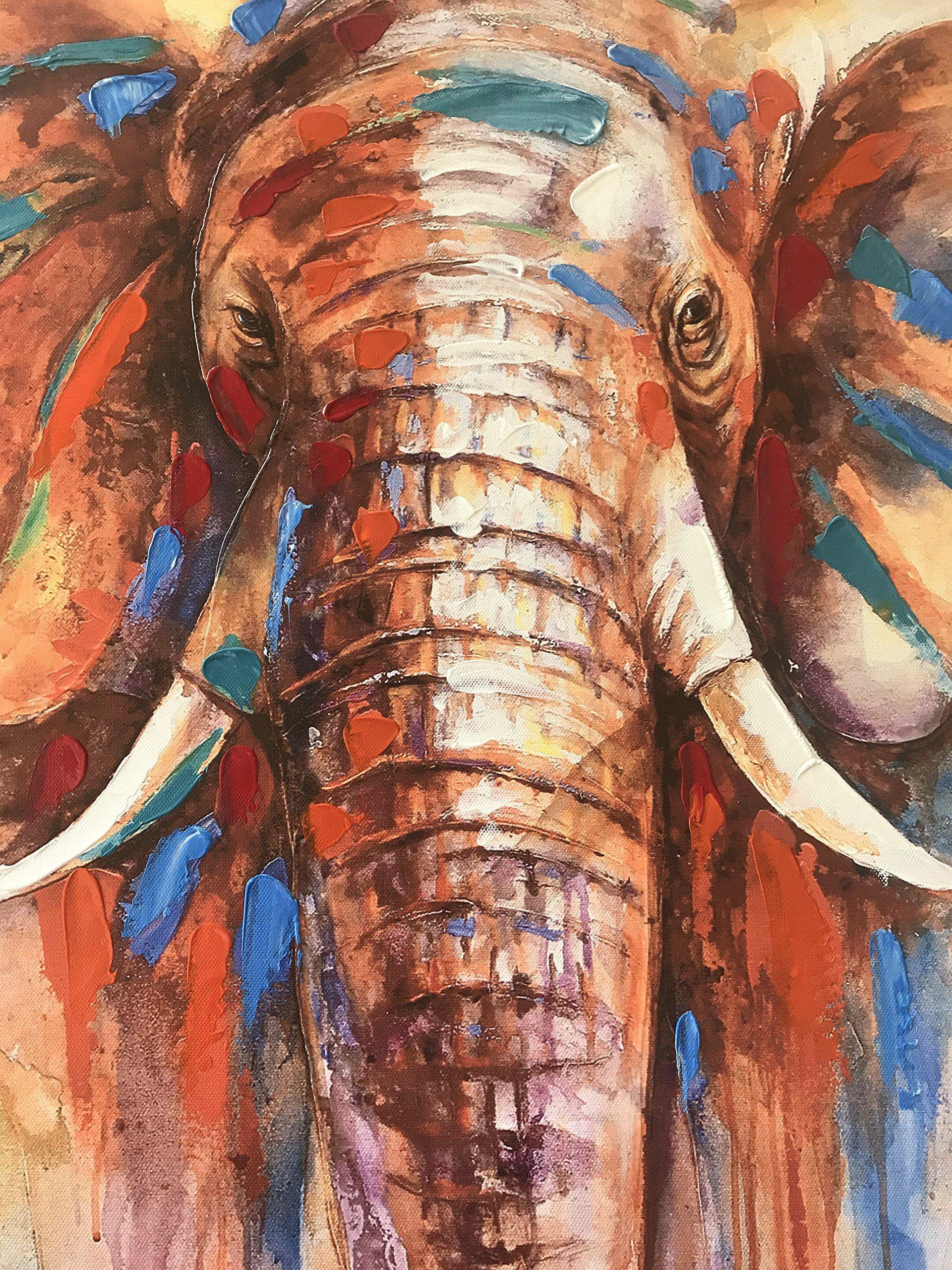 Crescent Art Original Design Modern Abstract Elephant Wall