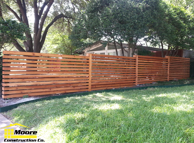 We Decided On A Horizontal Cedar Slatted Fence With 2