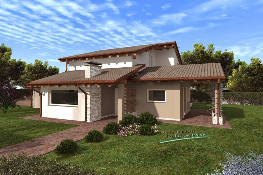 Villa singola moderna cerca con google nel 2019 for Ville con portico in legno