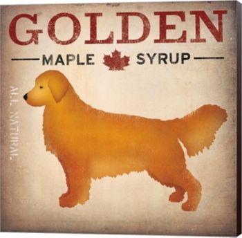 Golden Dog At Show No Vt By Ryan Fowler Canvas Art Golden Dog