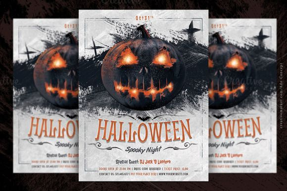 Halloween Party Flyer Template Flyers Halloween Party And Template