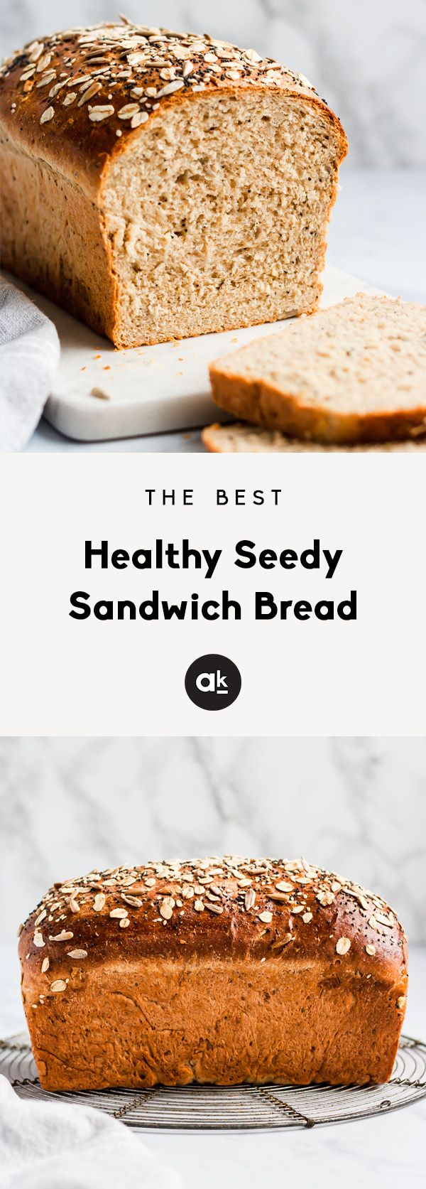 The Best Healthy Soft Seedy Sandwich Bread #flaxseedmealrecipes