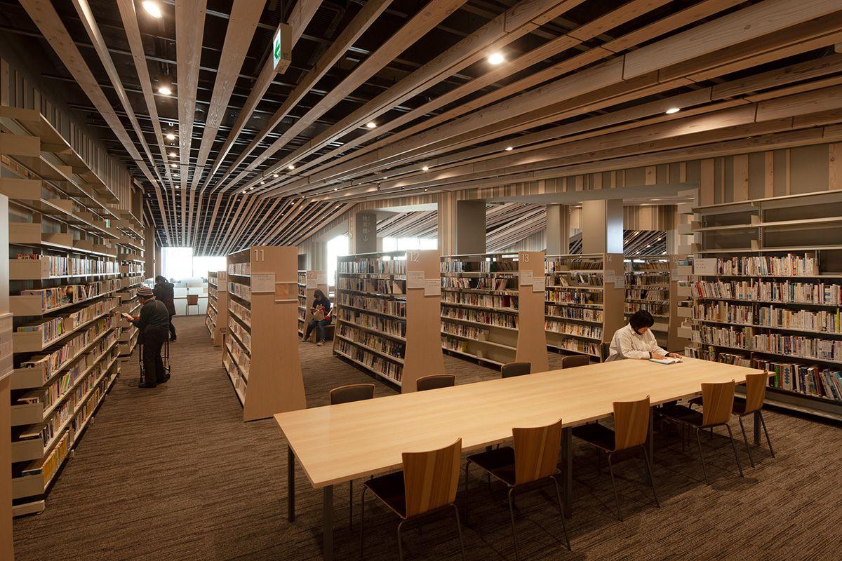 Moriyama City Library 守山市立図書館 浅草文化観光センター 梼原 横浜 ビル
