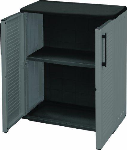 art plast e71 b armoire basse en plastique gris fabriqu en polypropyl ne r sistant au froid. Black Bedroom Furniture Sets. Home Design Ideas