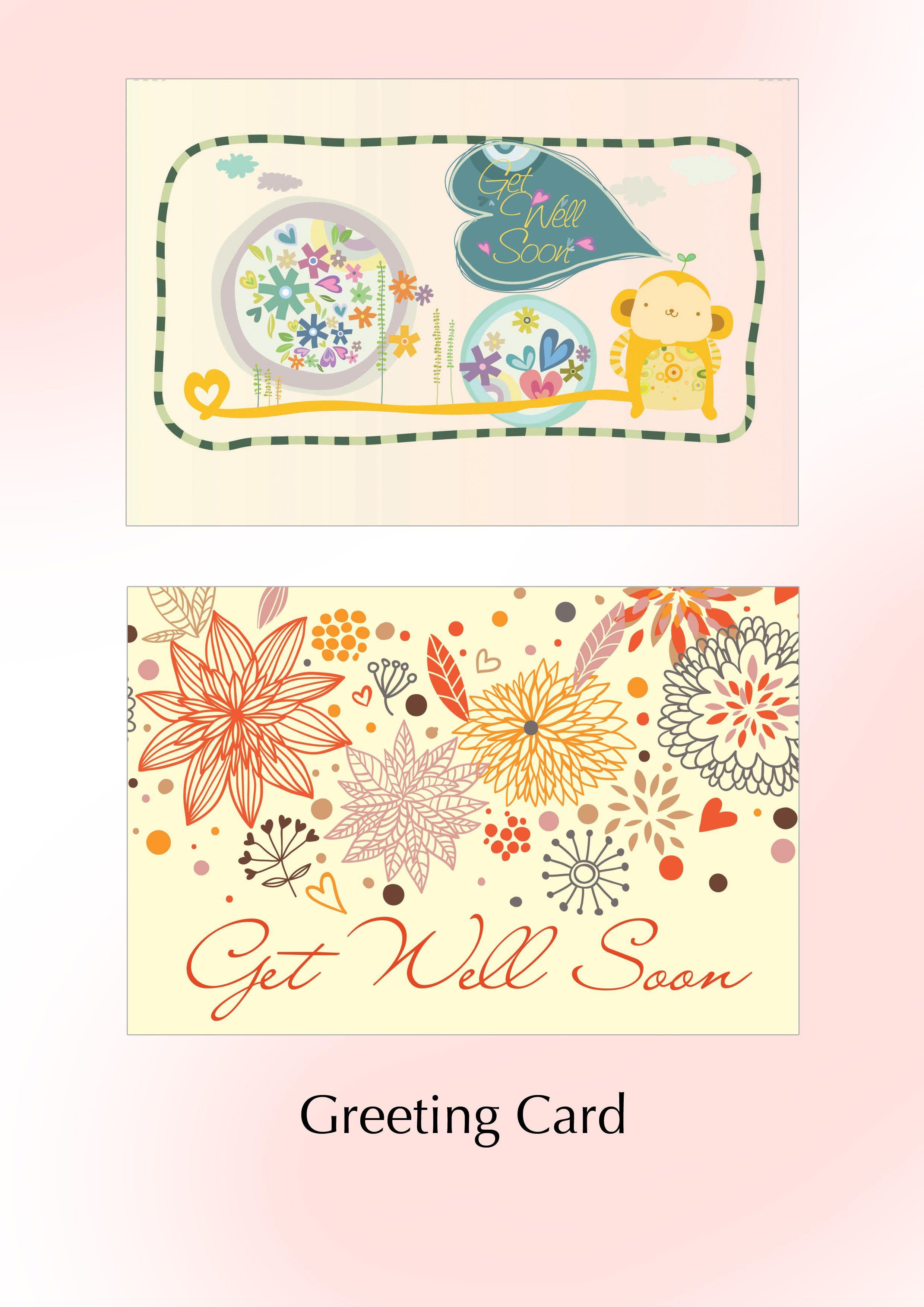 Greeting Card Get Well Soon My Portfolio Pinterest