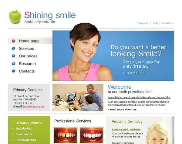Dental Clinic Website Templates Website Templates Dentist