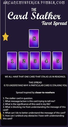 arcanemysteries:The Card Stalker Tarot Spread