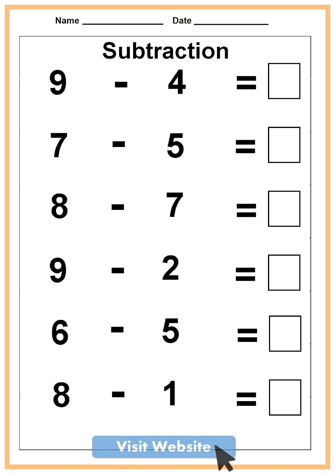 Math Worksheets For Kindergarten And Grade 1 Kindergarten Math Worksheets Free Math Addition Worksheets Kindergarten Subtraction Worksheets