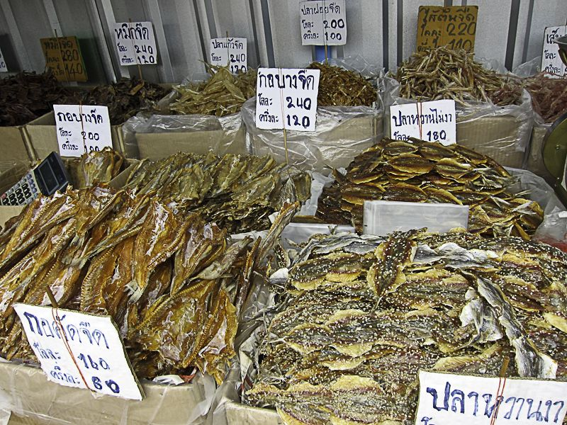 Dried Fish At A Street Market In Bangkok Thailand Food And Drink Dried Food