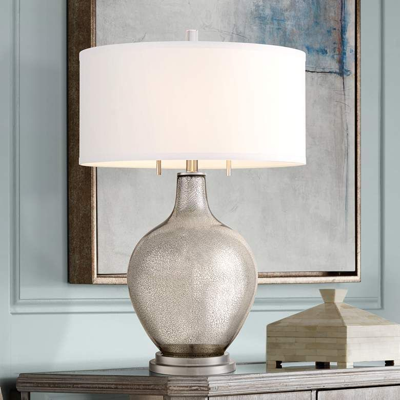 Possini Euro Louie Mercury Glass Table Lamp 23y56 Lamps Plus In 2020 Mercury Glass Table Lamp Modern Table Lamp Glass Table Lamp #silver #lamps #for #living #room