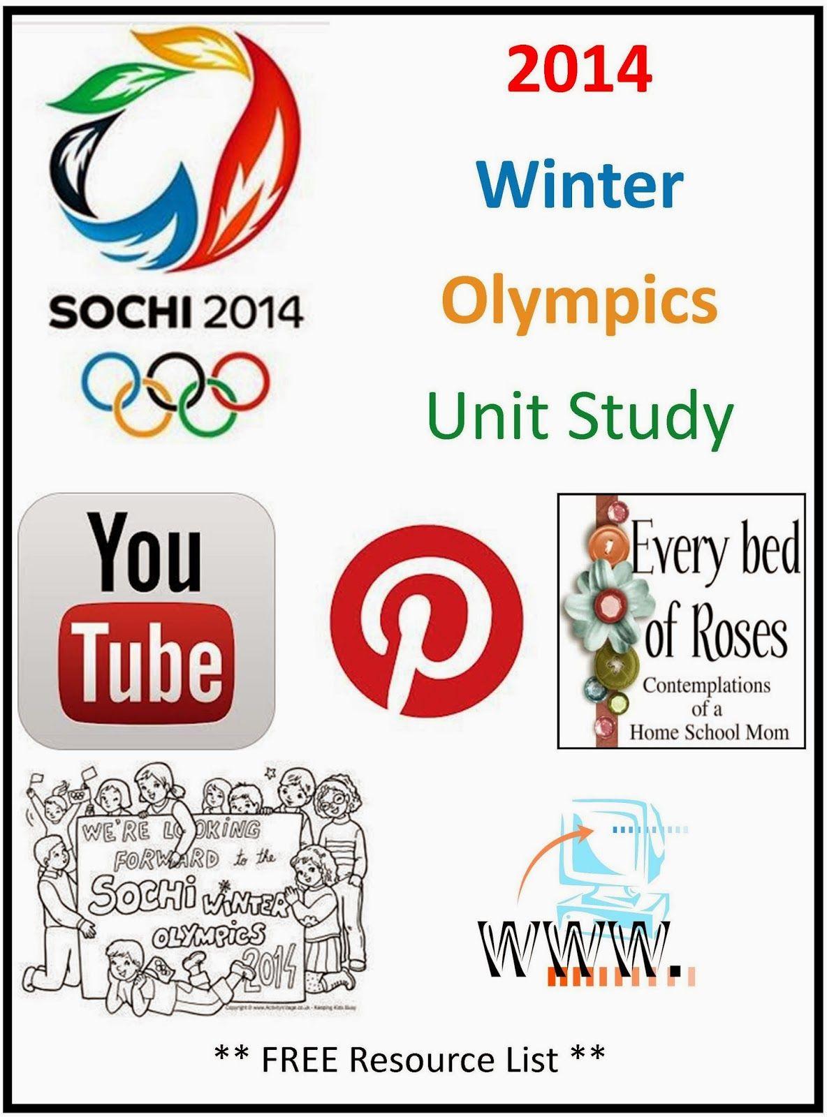 Winter Olympics Unit Study Resources