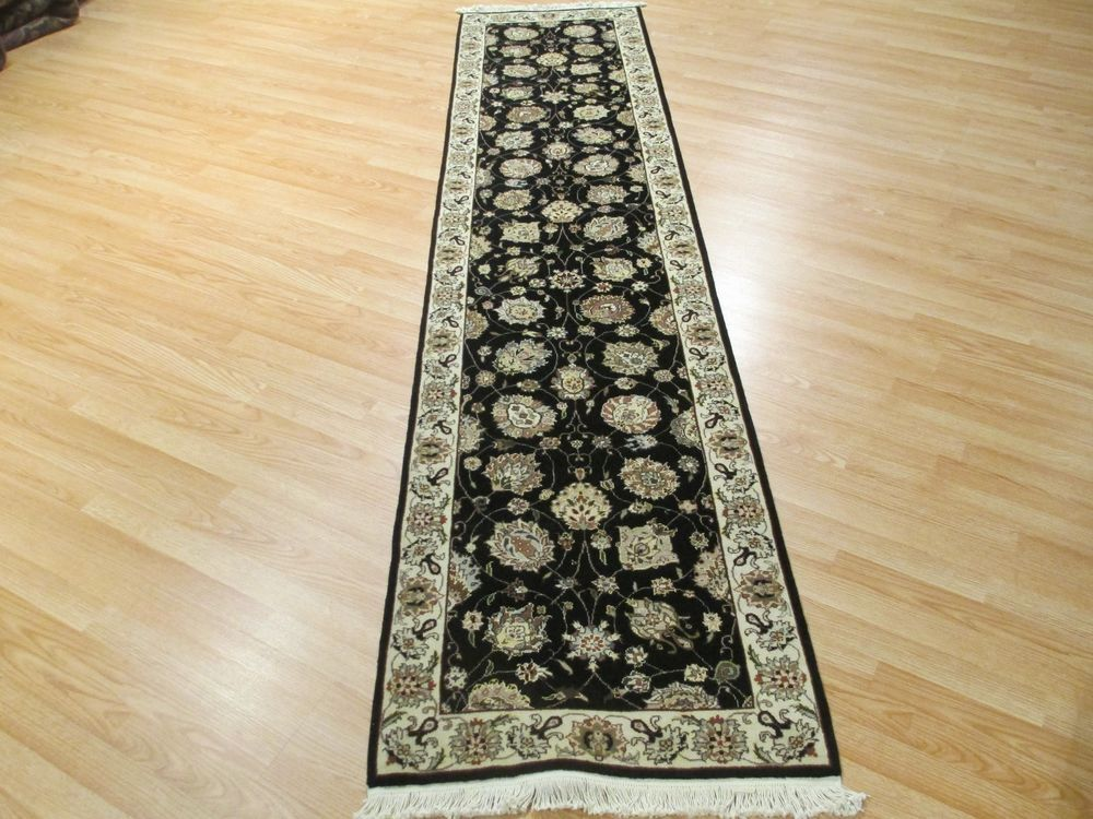 10 FEET Runner Persian Tabriz Veggie Dye Hand-made-knotted Rug Wool 580750 #PersianTabrizAllOverPattern