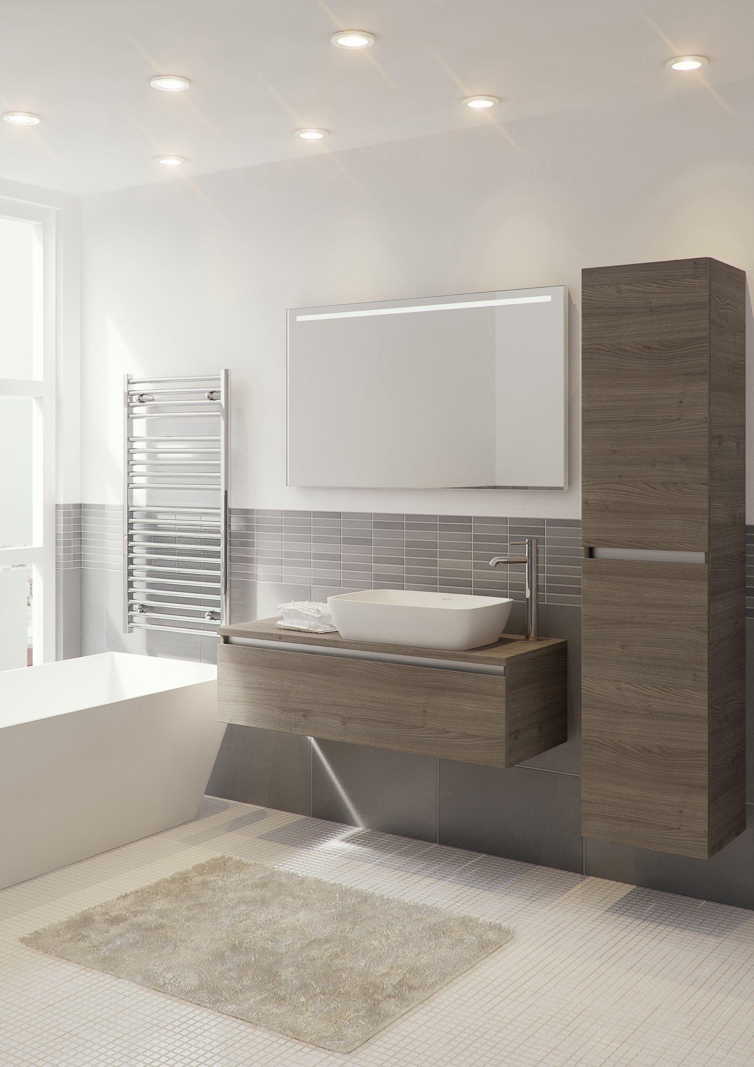 Bruynzeel badmeubel en hoge kast Faro in de kleur tortona badkamerkast badkamer idee meuble salle de bain