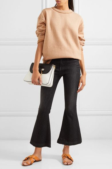 See by Chloé - Oversized Cotton-blend Fleece Sweatshirt - Camel