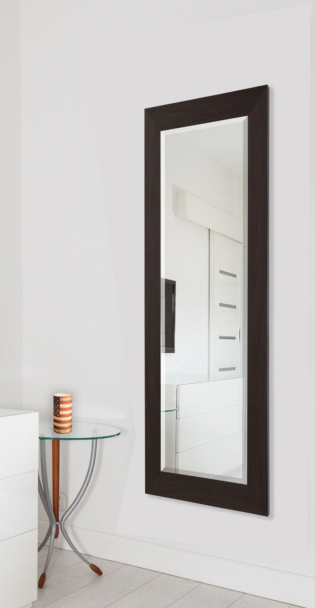 American made rayne black walnut slender body mirror room decor